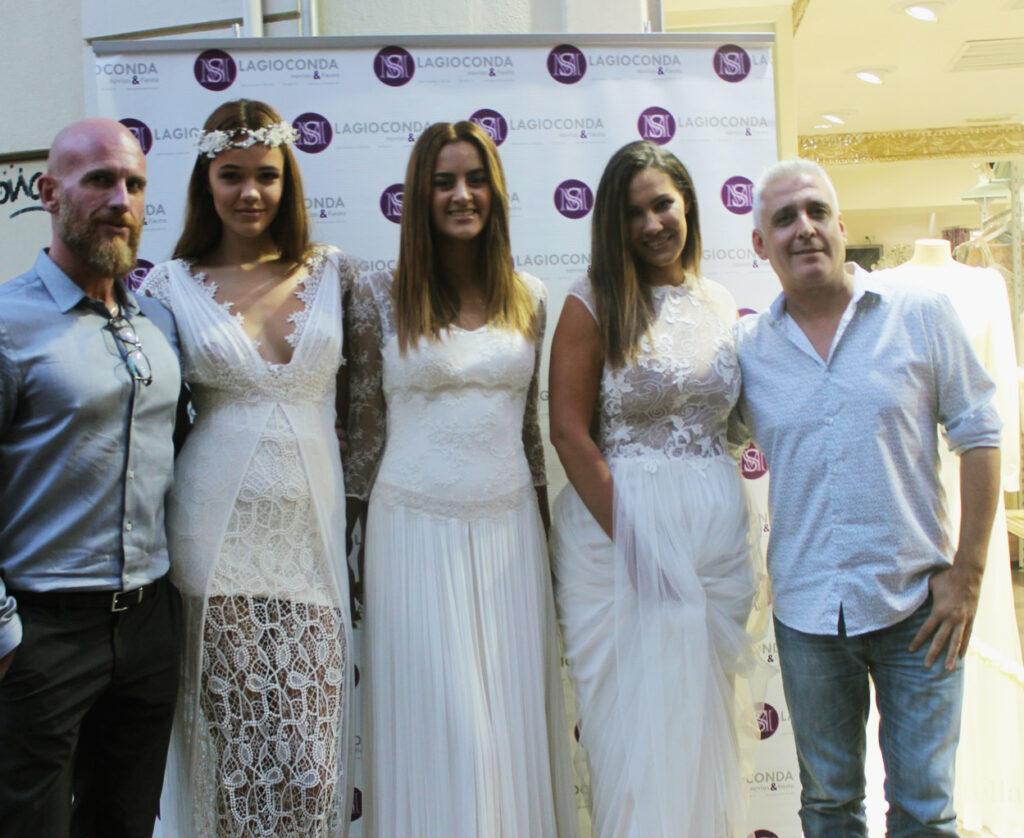 2 Juan Carlos Urbaneja y Eduardo Banderas con las modelos